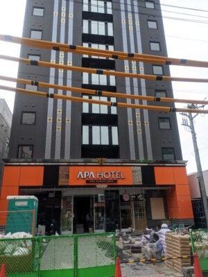 アパホテル<西船橋駅前>の工事がもうそろそろで終わりそう